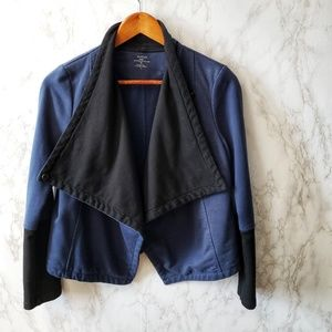 Majestic Paris Draped French Terry Moto Jacket